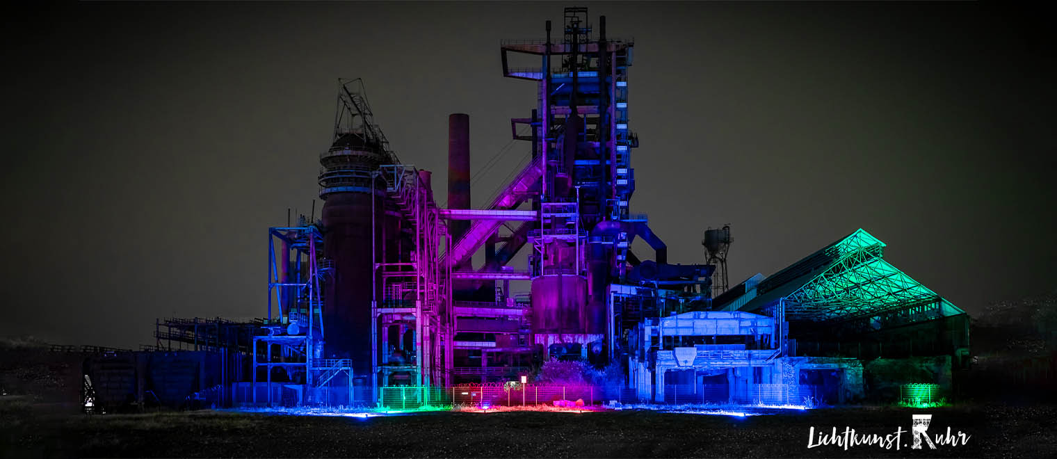 Lichtkunst Ruhr at Walas PHOENIX West Blast Furnace